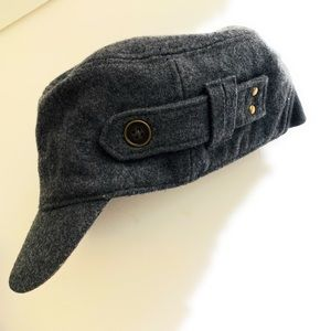 Lucky Brand Cap Hat Cadet Wool Blend Gray Grey OS